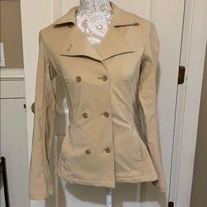Patagonia beige pea coat jacket EUC 6